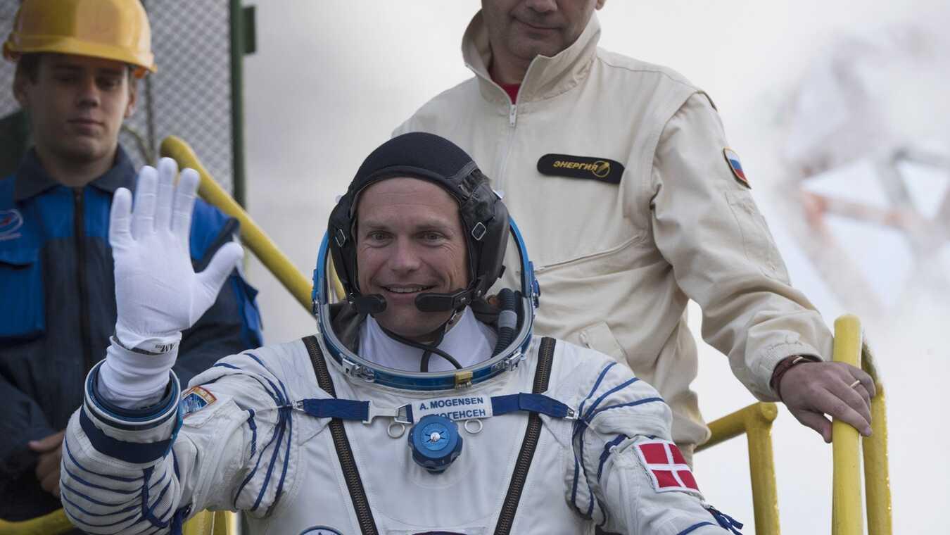 Andreas' første dag i rummet