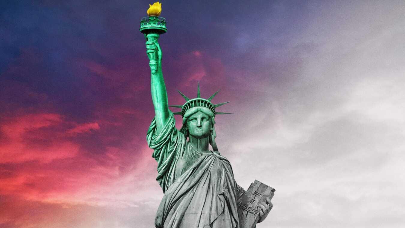 USA från svartvitt till färg