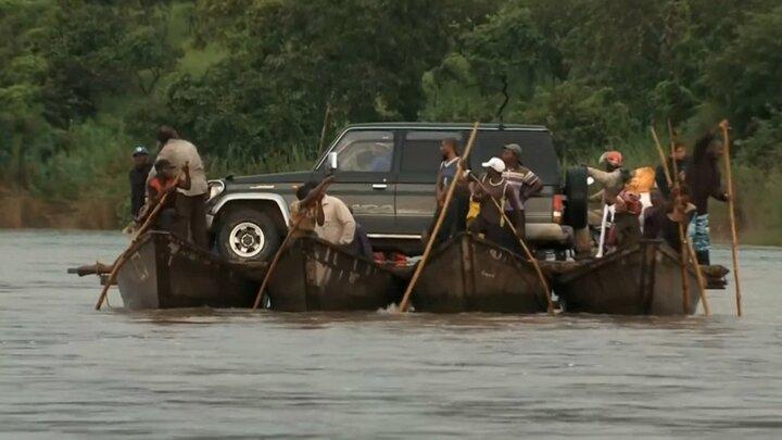 Krokodilattacken i Afrika