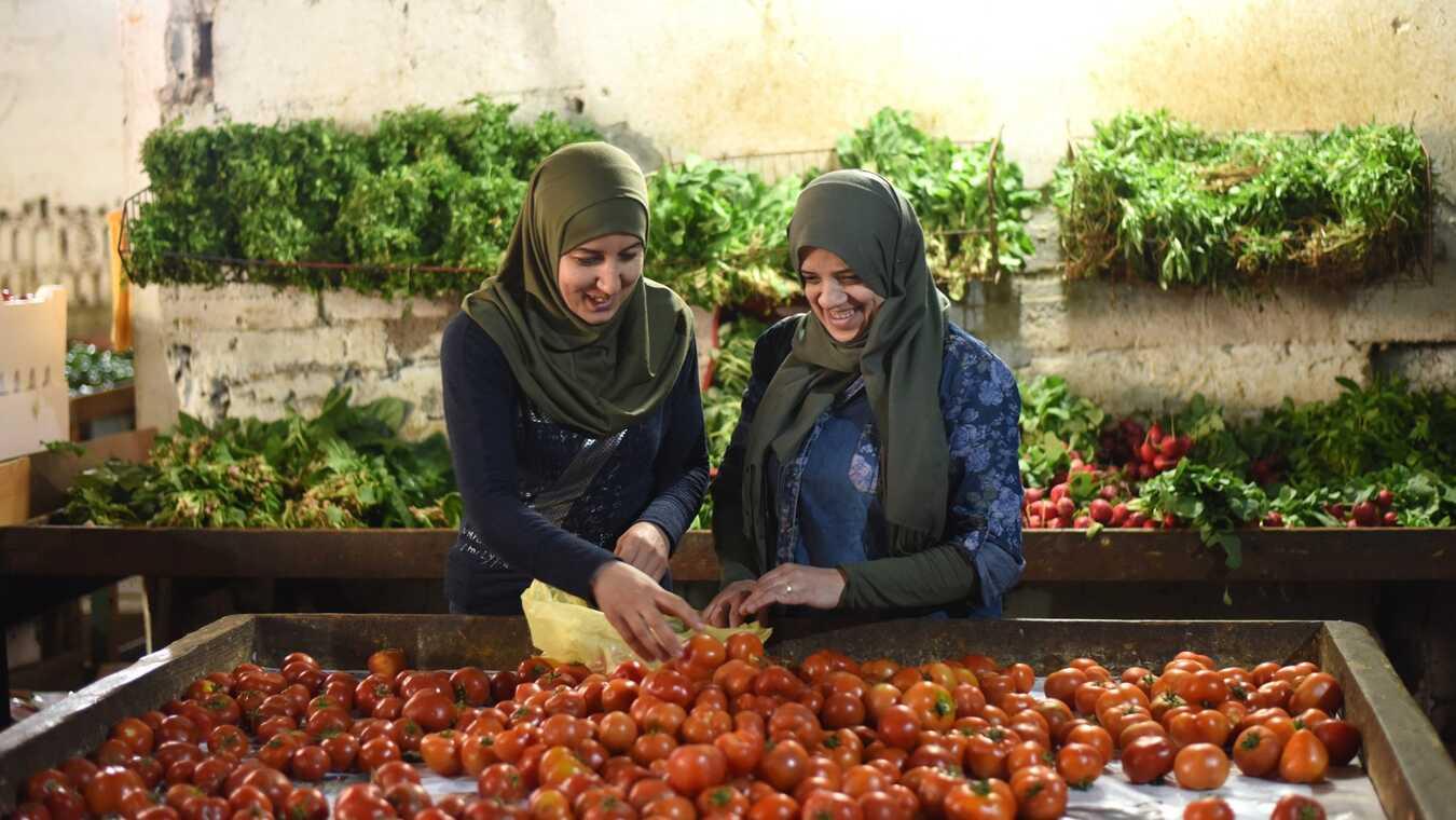 Foodtruck i flyktinglägret